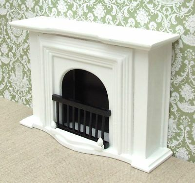 1:12 Dolls House Large White Georgian Fireplace