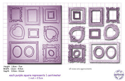 FRAMES MINI x 12 Craft Sugarcraft Silicone Rubber Mould Mold
