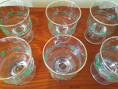 Lot of 6, Arby's Holly Dessert Cups.