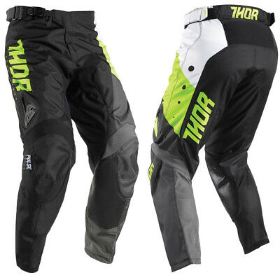 THOR Pulse Aktiv Cross Hose 2017 lime/black Motocross Enduro MX MTB Puls