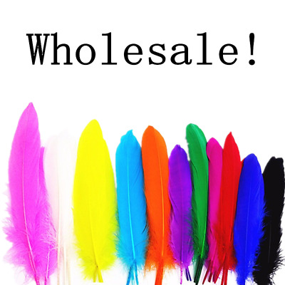 Wholesale! 20-50-100pcs High quality natural goose feather 15-20cm / 6-8 inches