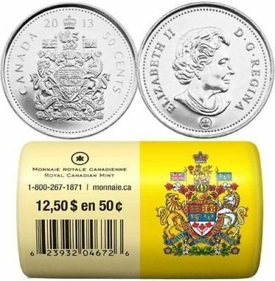 2013 Canada 50-Cent Circulation Special Wrap Rolls