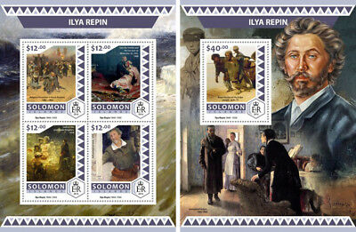 Ilya Repin Paintings Russia Realism Art Solomon Islands MNH stamp set
