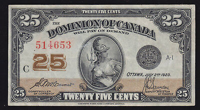 1923 Dominion of Canada Twenty Five Cents - S/N: 514653
