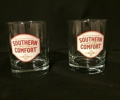 2 Southern Comfort Low Ball Glasses- New Orleans Original