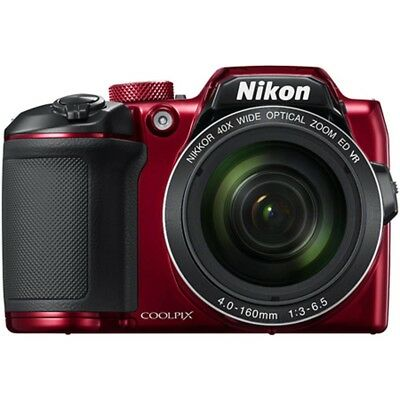 Nikon B500 COOLPIX 16MP 40x Optical Zoom Digital Camera w/ Builtin WiFi - Red
