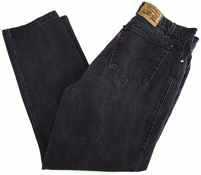 VINTAGE LEVIS SIGNATURE 540 black denim jeans mens 36x30 MADE IN USA faded 90s
