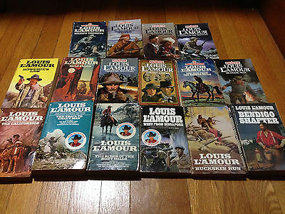 Louis L'Amour 16 Paperback Books (8) Sacketts (USA)