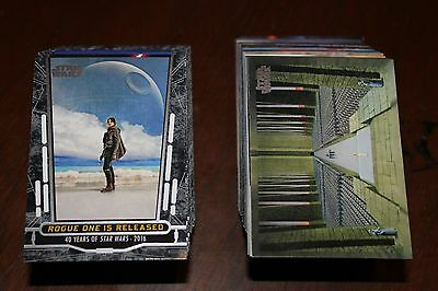 Complete Topps STAR WARS 40th Anniversary 200 Card Base Set