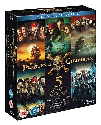 Pirates of the Caribbean: 5-movie Collection (Box Set) [Blu-ray]