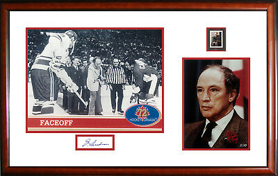 Pierre Trudeau Autographed Double Photo - Limited Edition of 10
