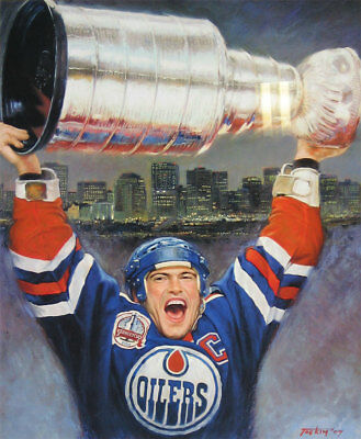 Mark Messier Lithograph - Edmonton Oilers - Limited Edition of 1111