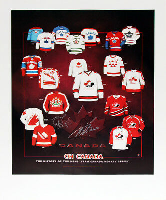 Guy Lafleur And Marcel Dionne Autographed Poster - Team Canada