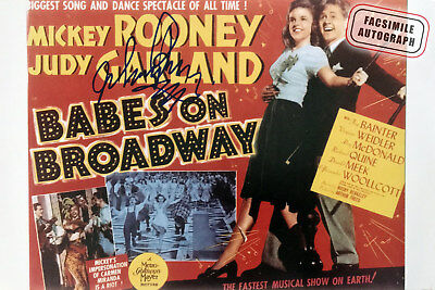 Facsimile Autographed Judy Garland and Mickey Rooney-  Babes On Broadway