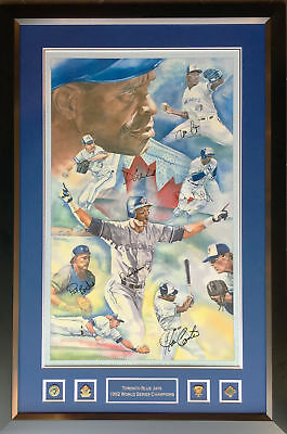 Blue Jays Champs: Carter, Borders, Alomar, White, Winfield & Guzman - Signed