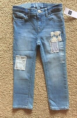 Toddler Girl Size 3 3T Baby Gap Patchwork Skinny Denim Jeans Pants