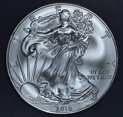 2010 1 oz AMERICAN SILVER EAGLE BRILLIANT UNCIRCULATED ASE  SKU2010B