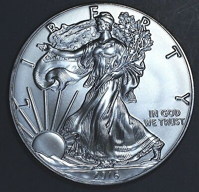 2016 1 oz AMERICAN SILVER EAGLE BRILLIANT UNCIRCULATED ASE  SKU2016B