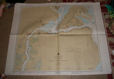 1984 Nautical Chart Map Kill Van Kull North Staten Island NJ Dept of Commerce