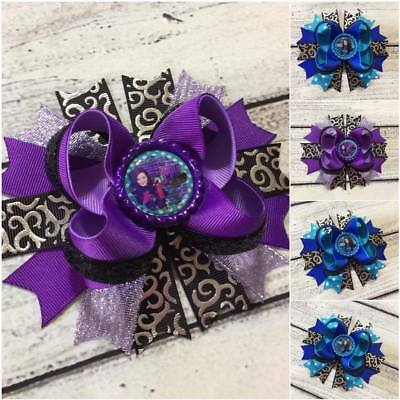 Descendants  Mal /Evie Stacked Boutique Hair Bow Handmade Babies /Girls