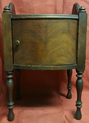 "Antique Wooden Copper Lined Cigar Tobacco Humidor Smoking Stand 20"" Tall"