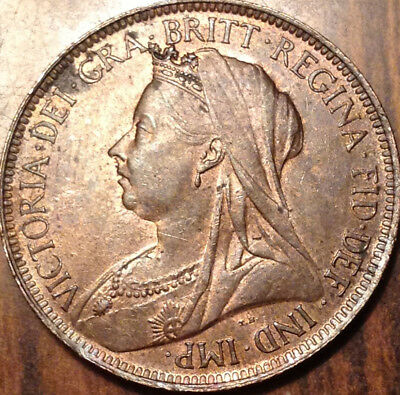 1900 Uk Gb Great Britain Halfpenny Uncirculated
