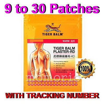 TIGER BALM PLASTER-RD WARM MEDICATED PAIN RELIEF 10cm x 14cm 9 Patches/sheets +