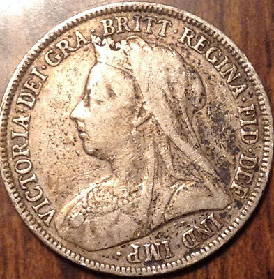 1896 Uk Gb Great Britain Silver Shilling