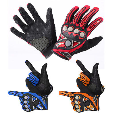 Motorcycle Motocross Cycling Racing Full Finger Hands Protective Nylon Gloves
