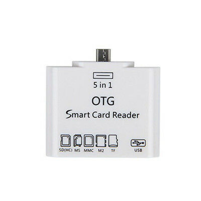 5 in 1 Micro USB OTG Kit TF/SD Card Reader Adapter For Samsung Galaxy S6 Android