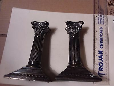 Pair Of Sterling Silver Candlesticks - 1897 Sheffield Hallmarked - 6 Inches