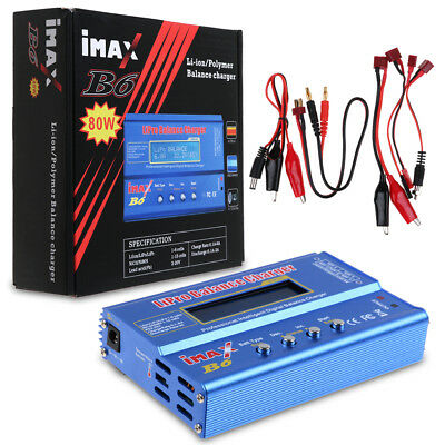 iMax B6AC 80W RC Lipo Lithium NiMh Digital Battery Balance Charger Discharger AU