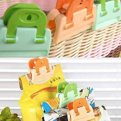 4 pc Keep Fresh Bag Clips Food/vegetable Storage Stay Crisp Packet Peg Seal 6A