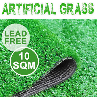 10 SQM Artificial Grass Synthetic Turf Plastic Emerald Plant Fake Lawn Flooring