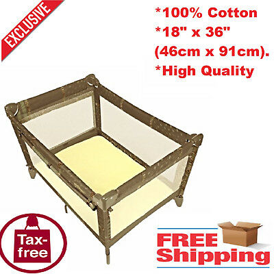 Infant Playpen Yard Playard Fitted Sheet Home Kids Safety Portable Baby Yellow