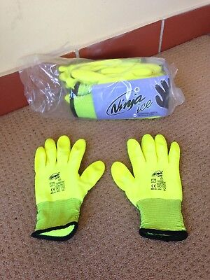 6 Pack -Ninja® Ice Hi Vis Double Insulated Work Safety Gloves (Size 11/ XXLarge)