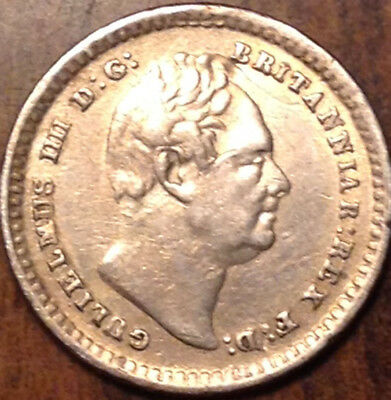 1834 Uk Gb Great Britain Silver 1 1/2 Pence