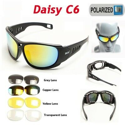 Daisy C6 Tactical Polarised Sport Sunglasses Motorcycle Goggles Military Style
