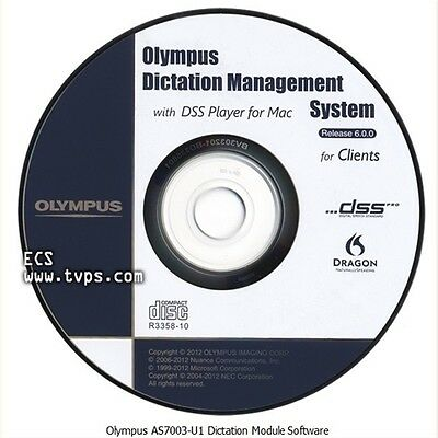 Olympus Dictation Management System R6 (ODMS) AS7001 software