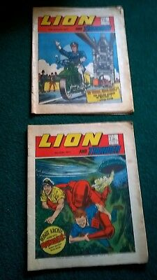 Lion and Thunder Comics x 2  May and September 1973