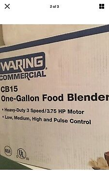 Waring CB15 3-Speed Blender New In The Box