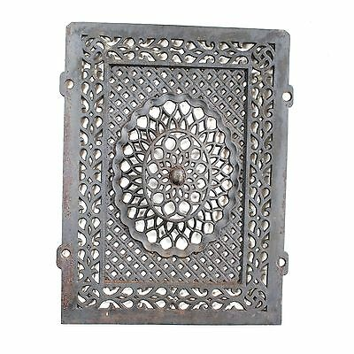 Antique Cast Iron Fireplace Cover - Wall Display, Panel Insert, or Garden Decor