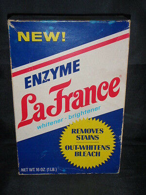 Vintage Empty Enzyme La France Whitener Soap Box General Foods Corp. Made Usa