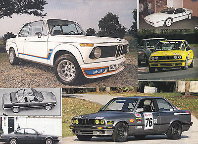 66 LOT BMW Cars, Historic & Vintage Magazine Clips from over the Years! Most UK