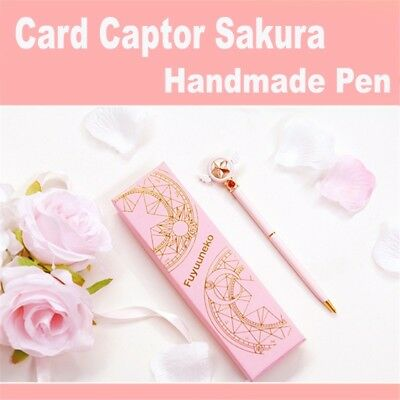 Card Captor Sakura Anime Star Wing Pink Ballpoint School Pen Student Cute Gift