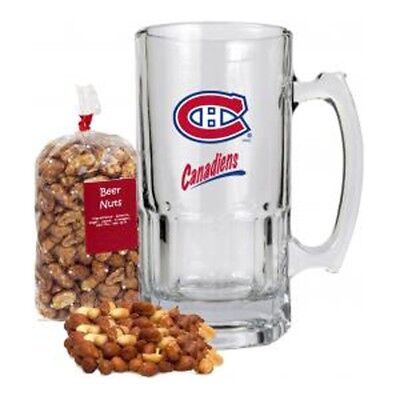 Montreal Canadiens NHL 34 oz Mug filled with Beer Nuts