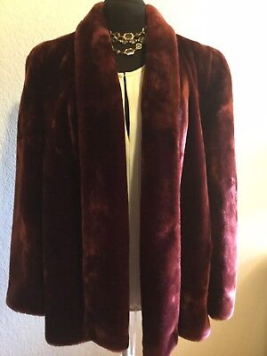 Stunning  Lassie 50's Faux Fur Swing Coat - Excellent Condition