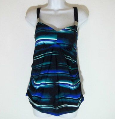 New Liz lange Maternity​ Women's Swimsuit Tankini halter Top Size; Small