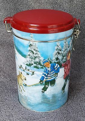 TIM HORTON' S Coffee Tea Canister Skating Pond Limited Edition #3 Collectors
