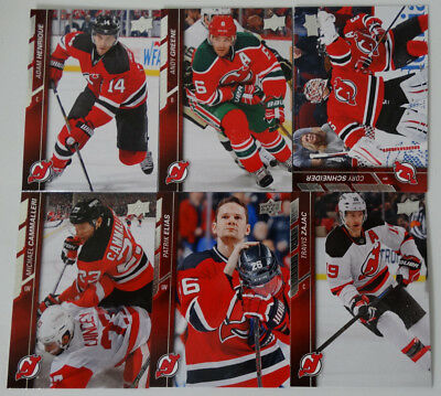 2015-16 Upper Deck UD New Jersey Devils Series 1 Team Set of 6 Hockey Cards